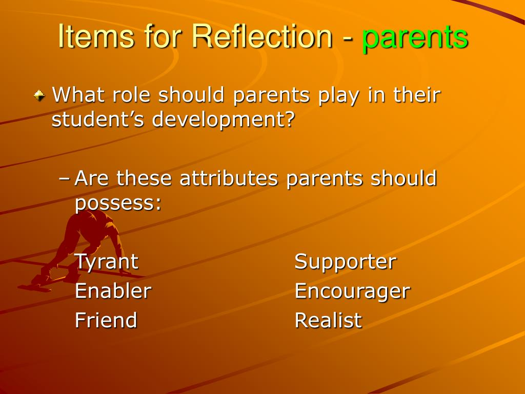 Items for Reflection -