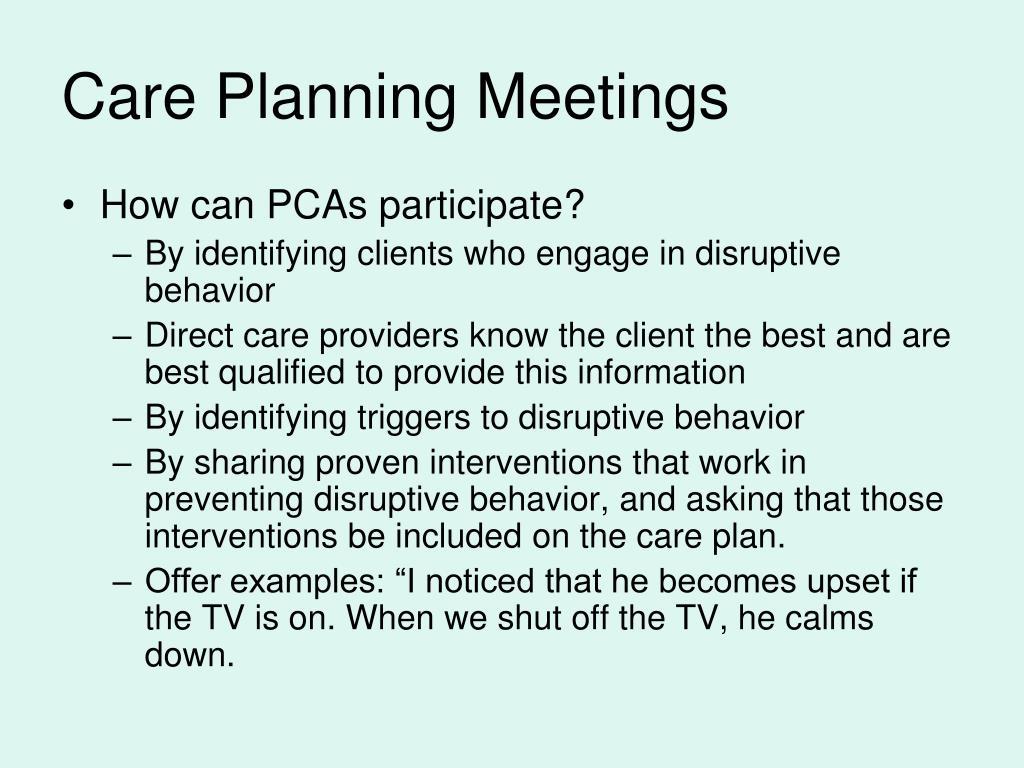 Care Planning Meetings