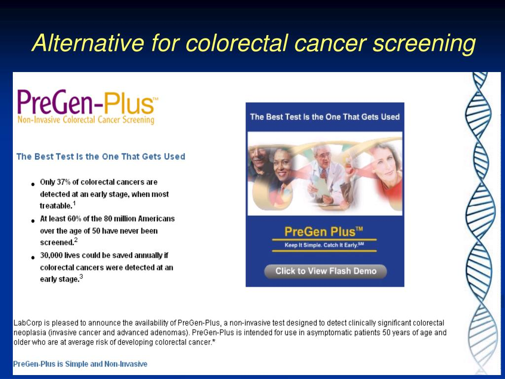 Alternative for colorectal cancer screening