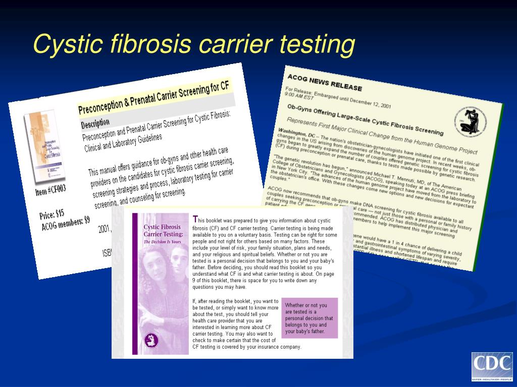 Cystic fibrosis carrier testing