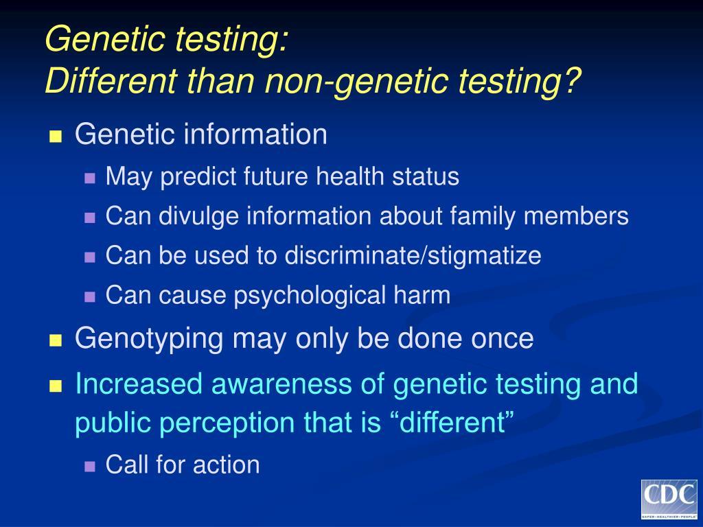 Genetic testing: