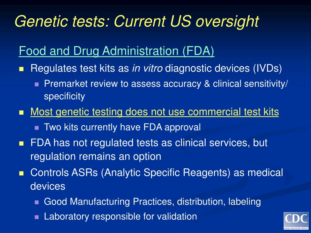 Genetic tests: Current US oversight