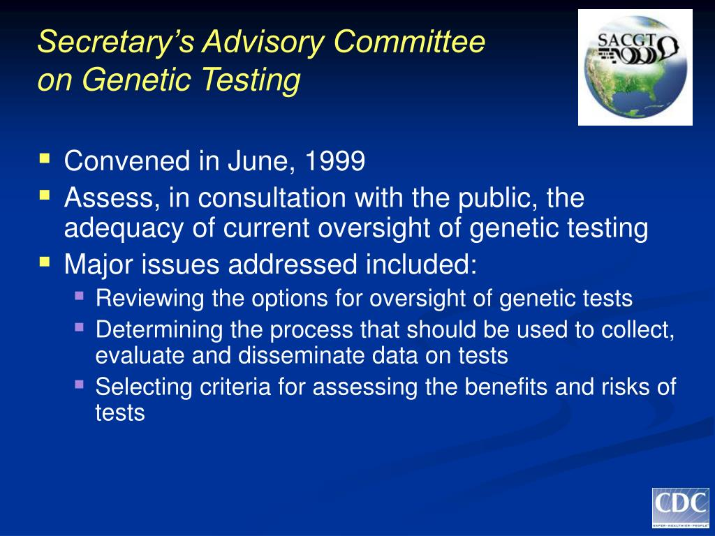 Secretary's Advisory Committee on Genetic Testing
