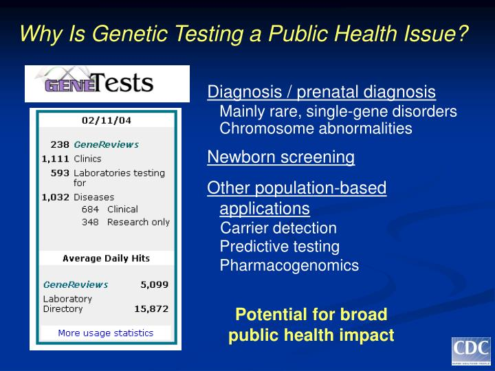 Why is genetic testing a public health issue l.jpg