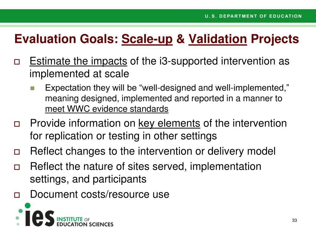 Evaluation Goals:
