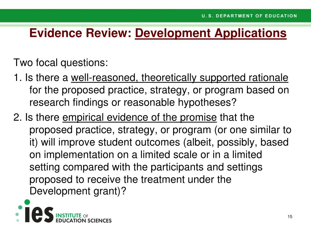 Evidence Review: