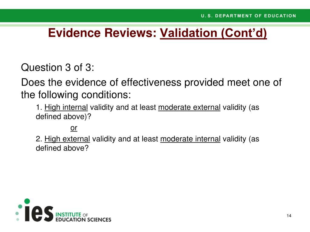 Evidence Reviews:
