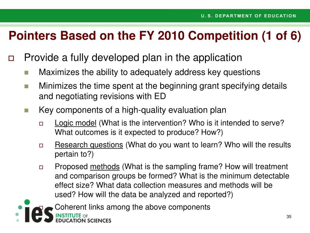 Pointers Based on the FY 2010 Competition (1 of 6)