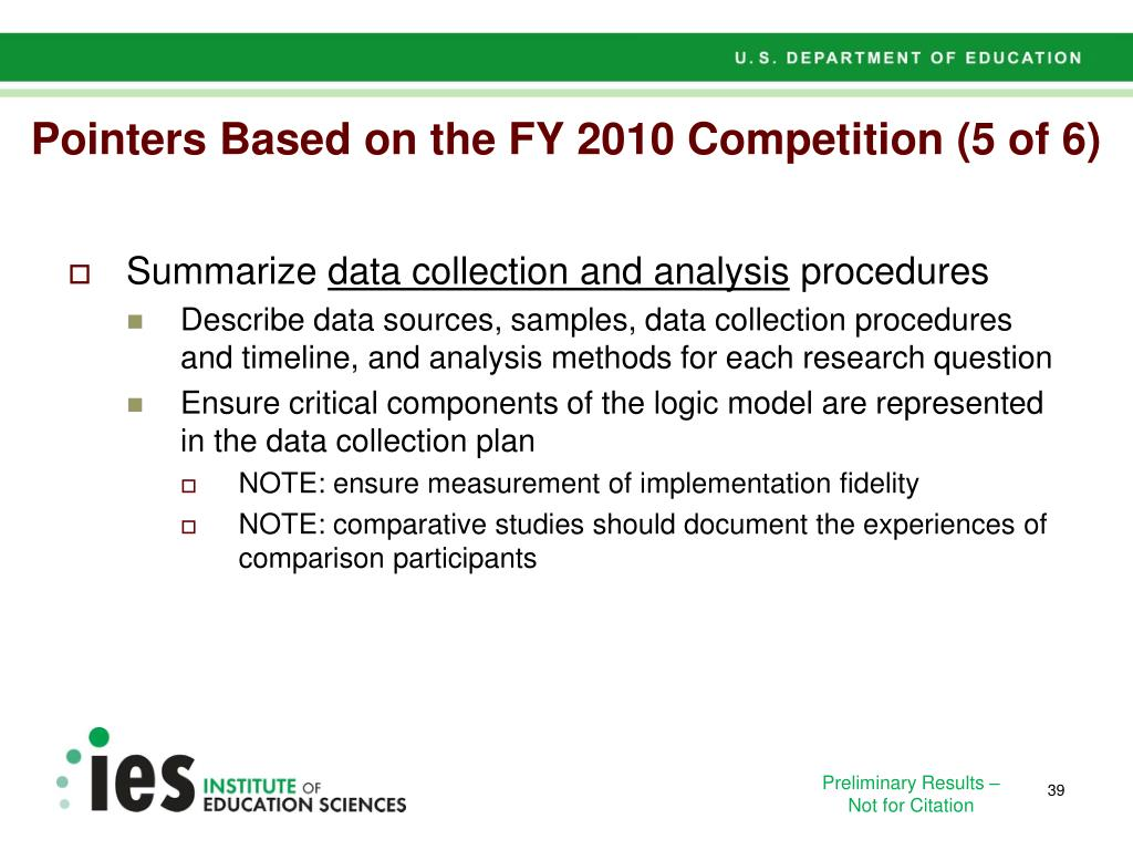 Pointers Based on the FY 2010 Competition (5 of 6)