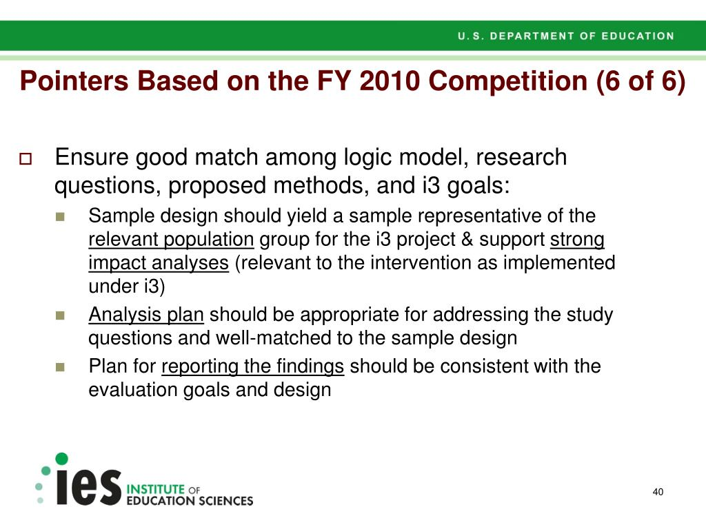 Pointers Based on the FY 2010 Competition (6 of 6)
