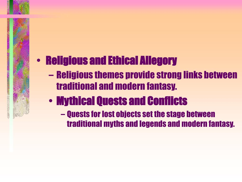 Religious and Ethical Allegory