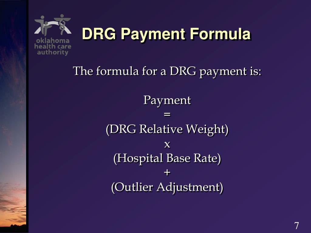 DRG Payment Formula