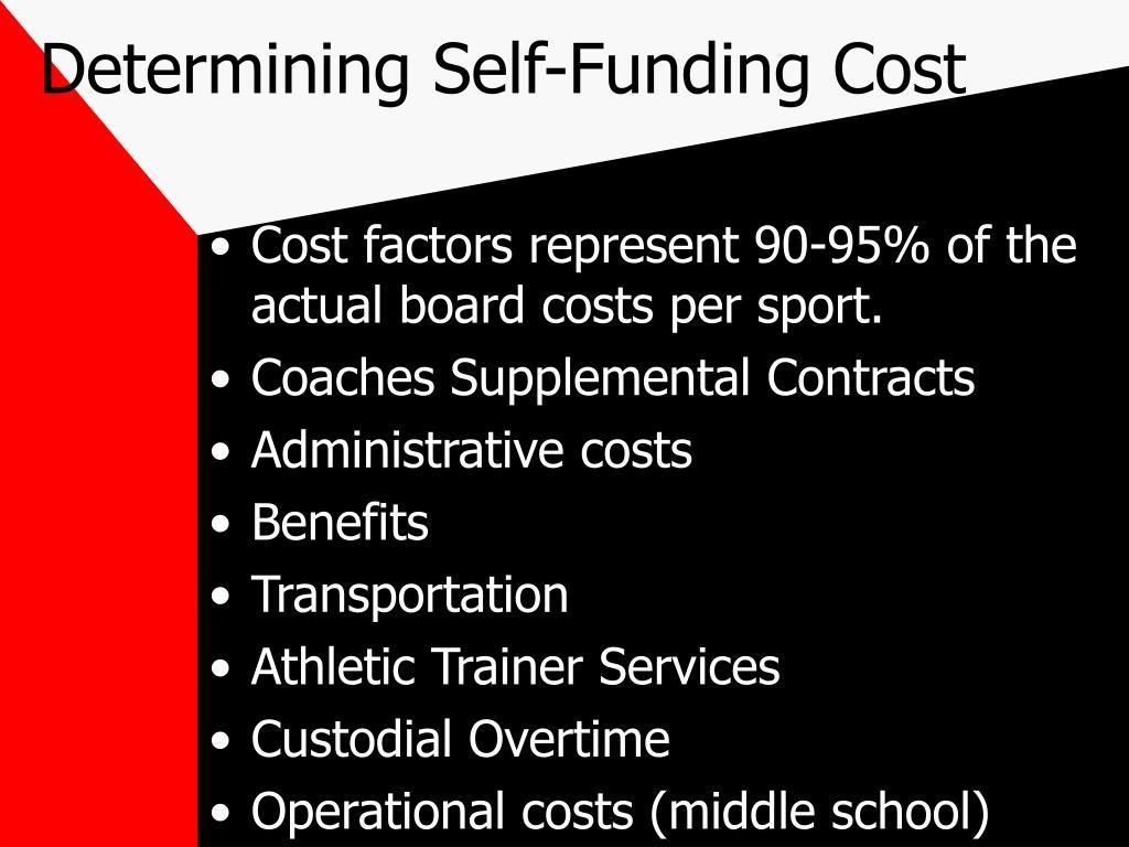 Determining Self-Funding Cost
