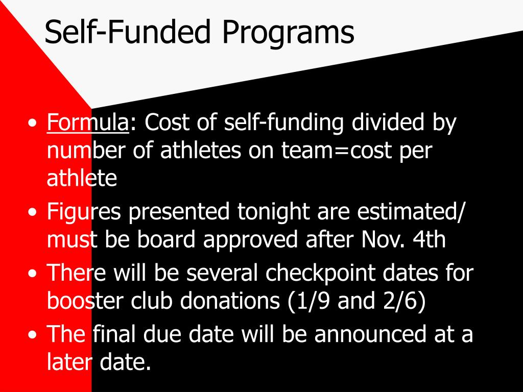 Self-Funded Programs