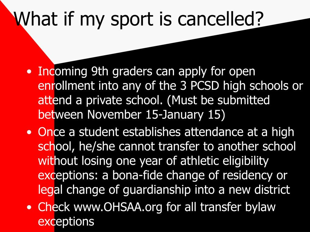 What if my sport is cancelled?