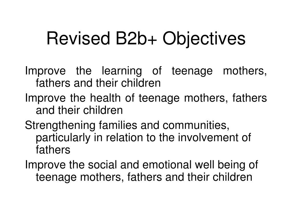 Revised B2b+ Objectives