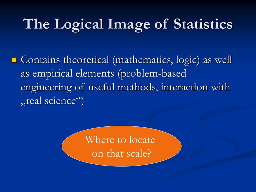 The Logical Image of Statistics