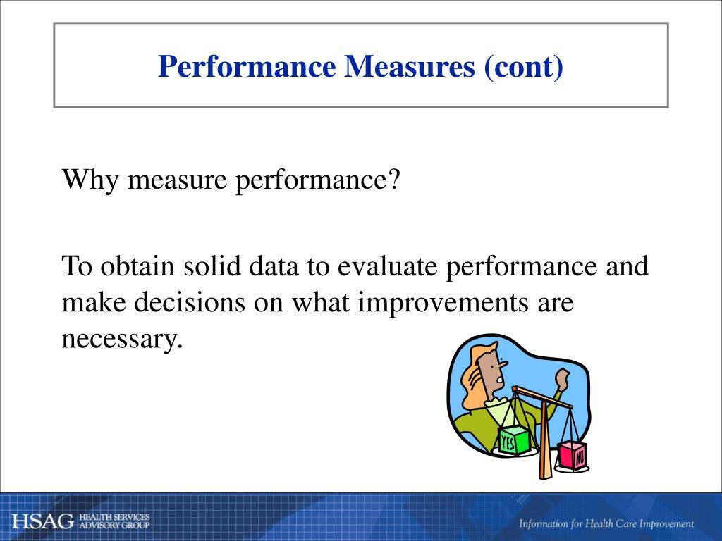 Performance Measures (cont)