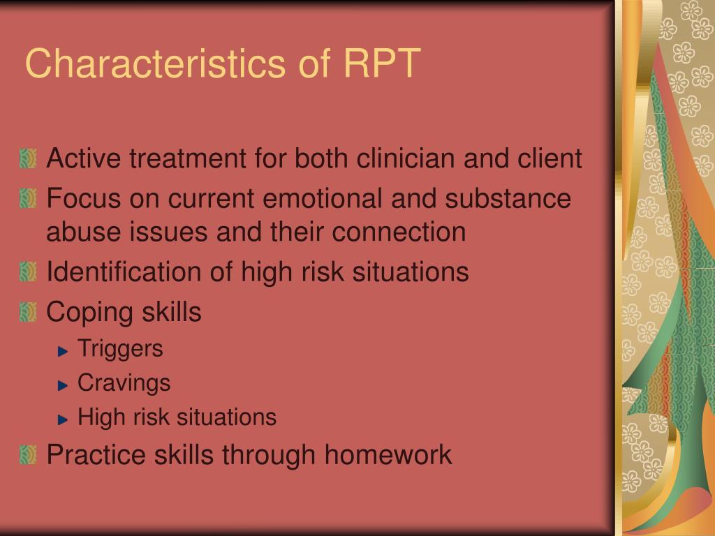 Characteristics of RPT