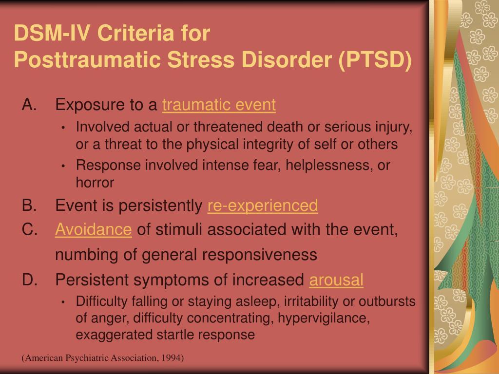 DSM-IV Criteria for