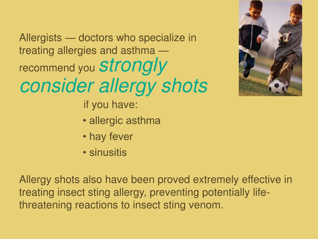 Allergists — doctors who specialize in