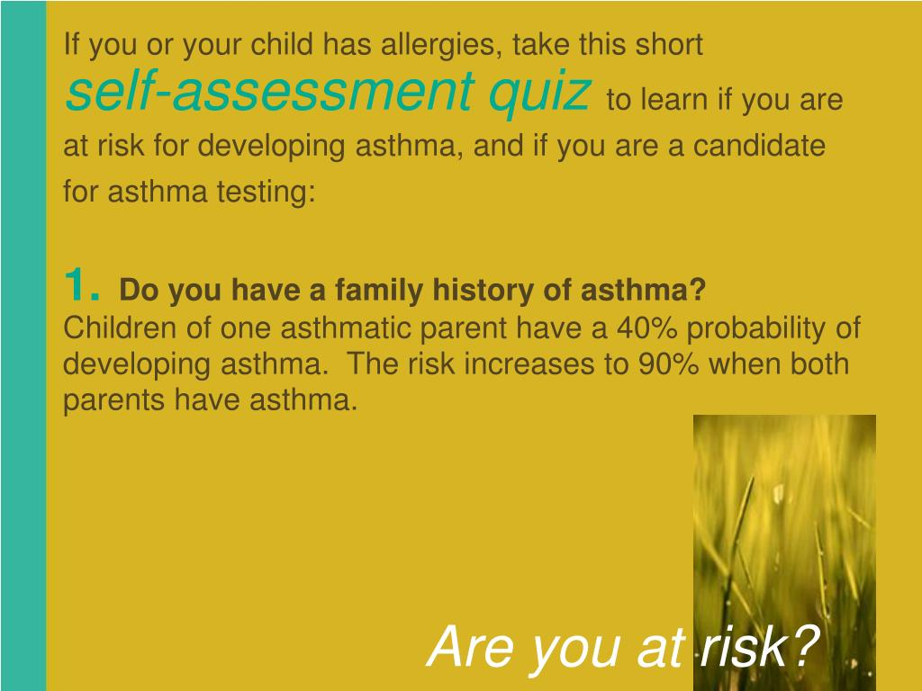 If you or your child has allergies, take this short