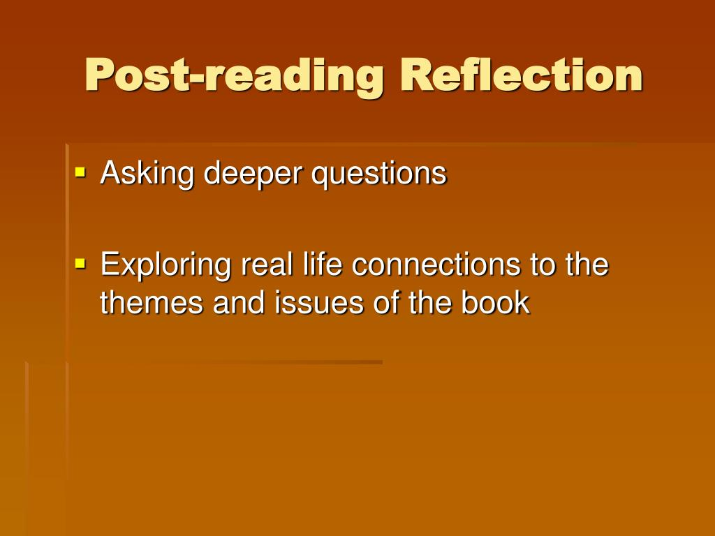 Post-reading Reflection