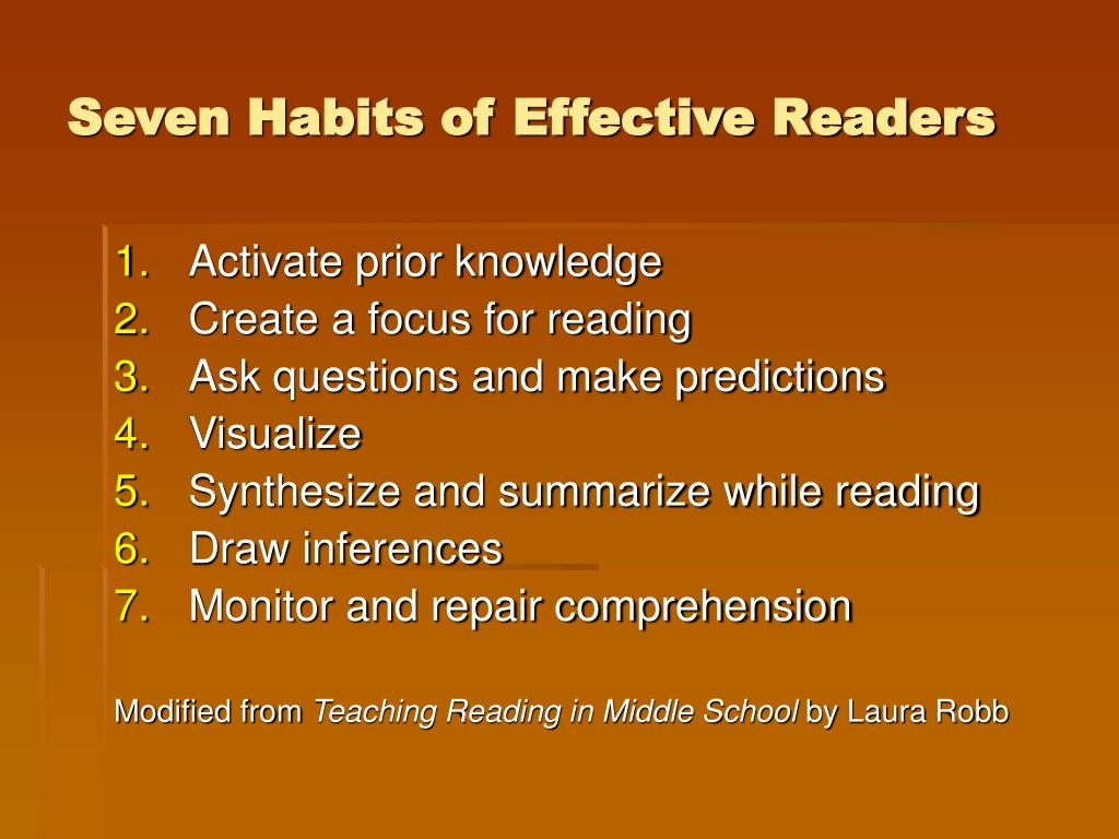 Seven Habits of Effective Readers