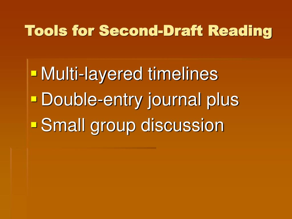 Tools for Second-Draft Reading