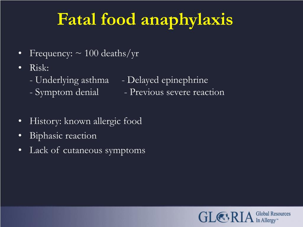 Fatal food anaphylaxis