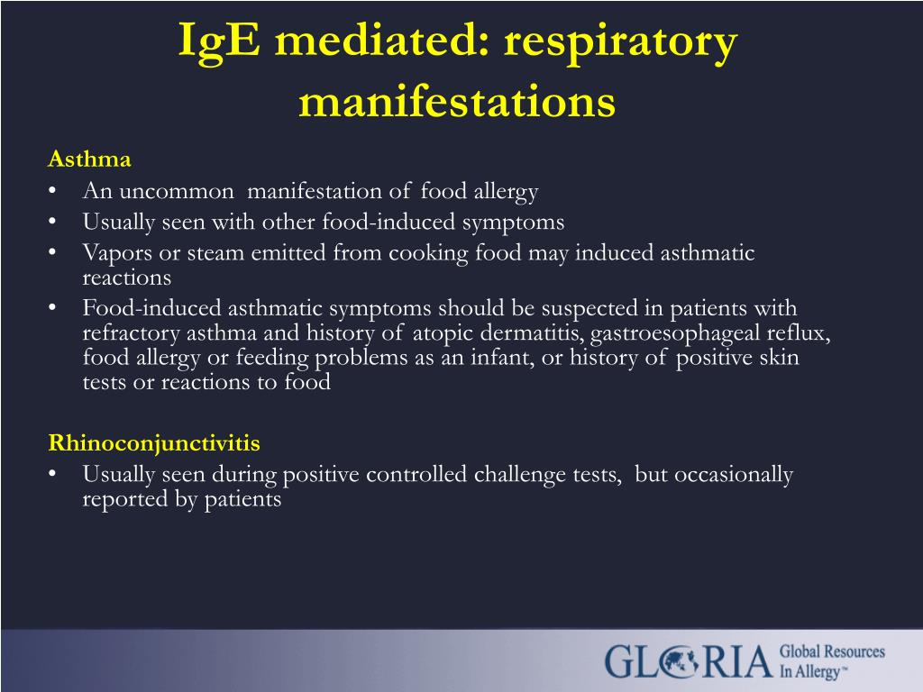 IgE mediated: respiratory manifestations