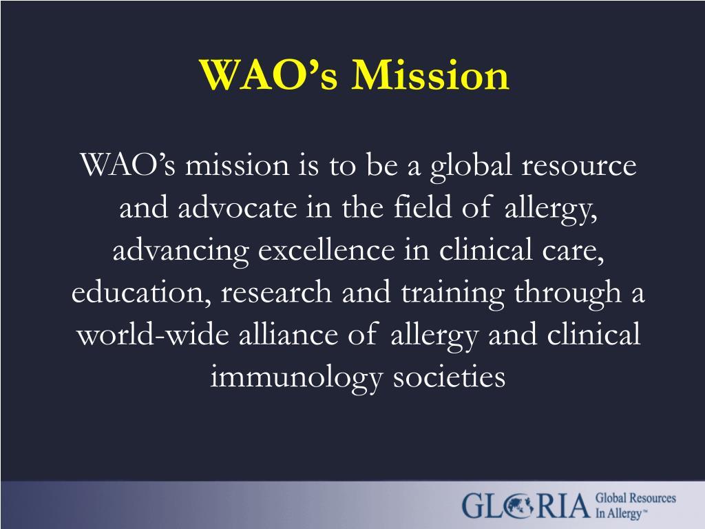 WAO's Mission