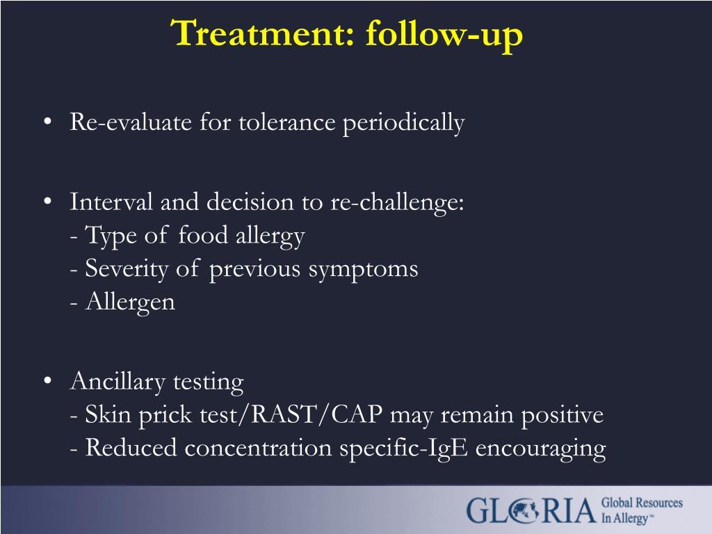 Treatment: follow-up