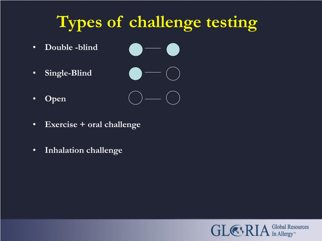 Types of challenge testing