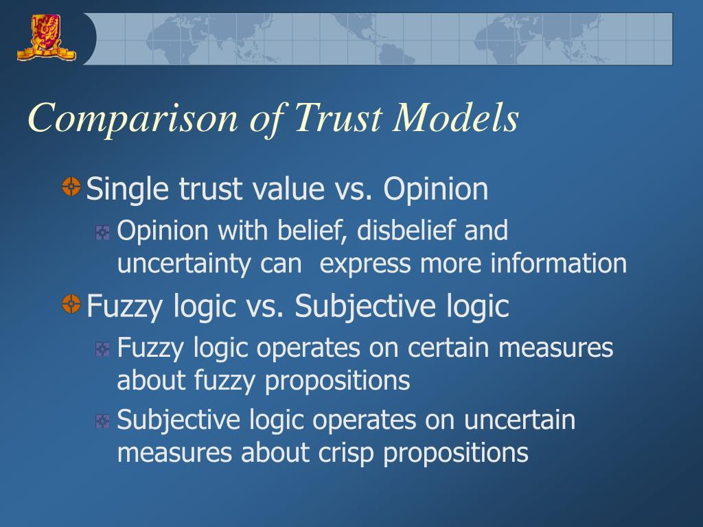 Comparison of Trust Models