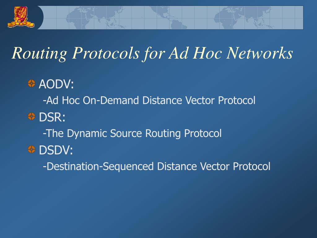 Routing Protocols for Ad Hoc Networks