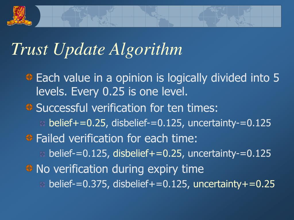 Trust Update Algorithm