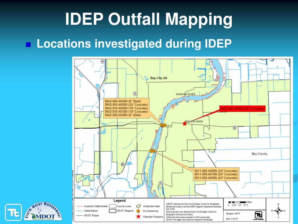 IDEP Outfall Mapping