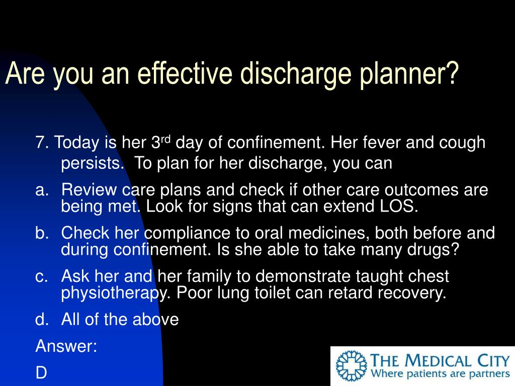 Are you an effective discharge planner?