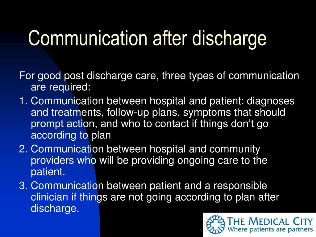 Communication after discharge