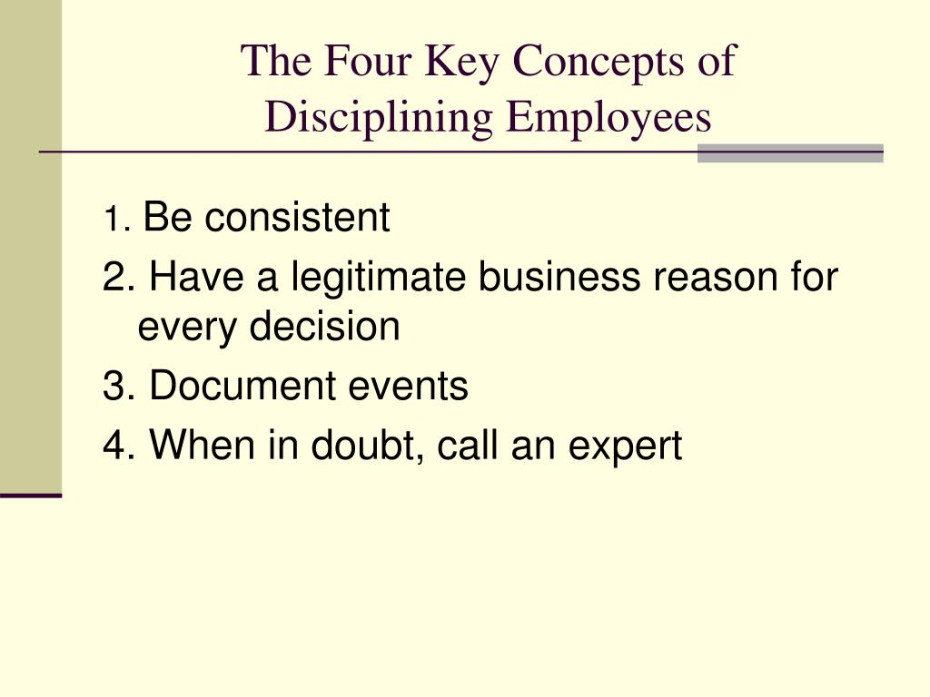 The Four Key Concepts of