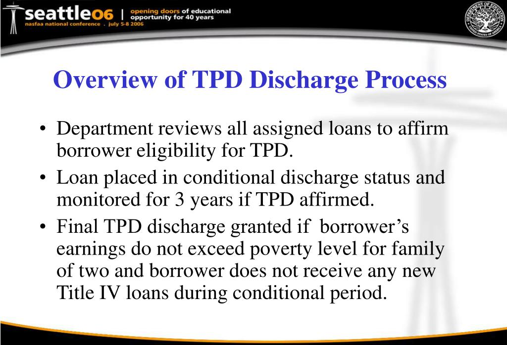 Overview of TPD Discharge Process