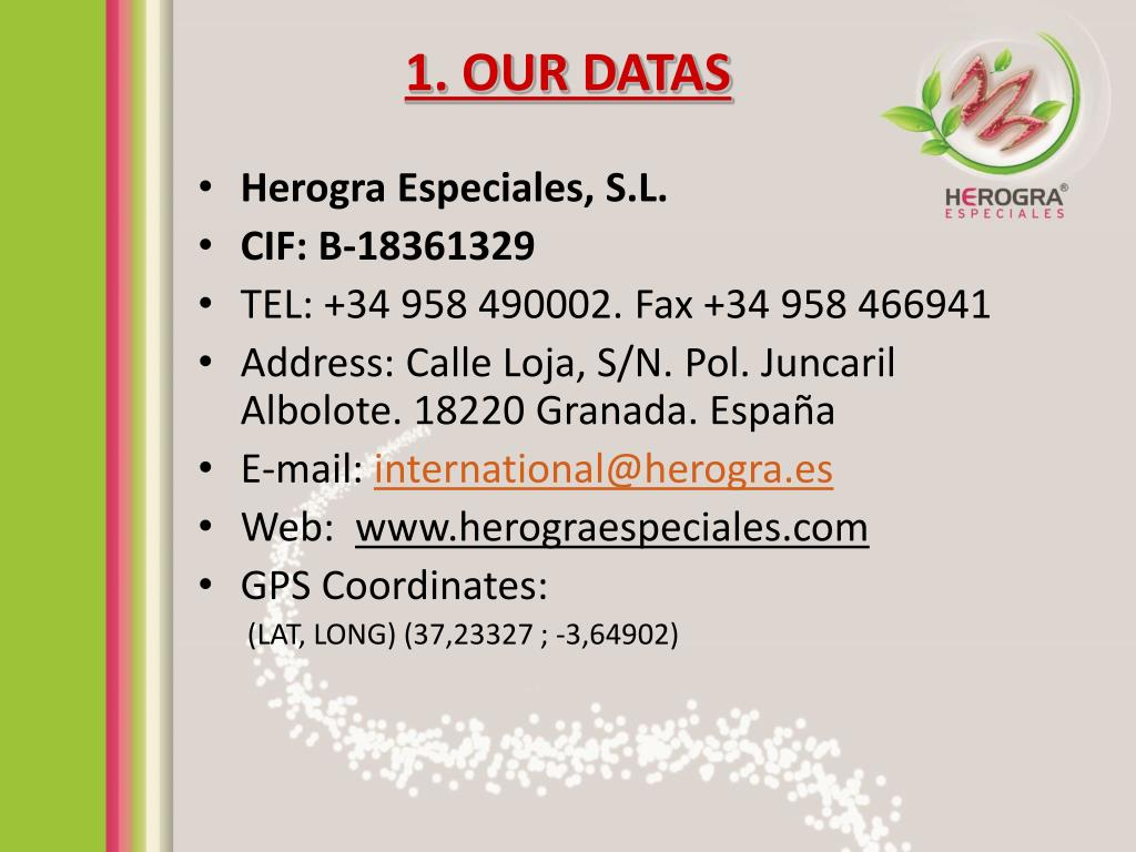 1. OUR DATAS
