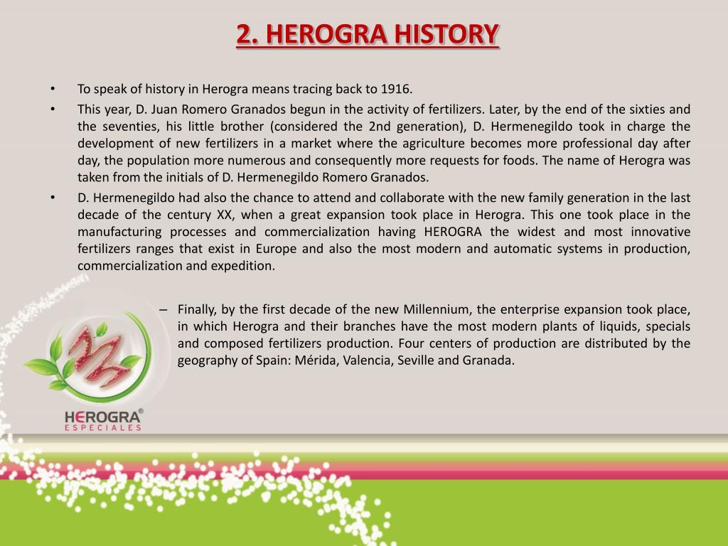2. HEROGRA HISTORY