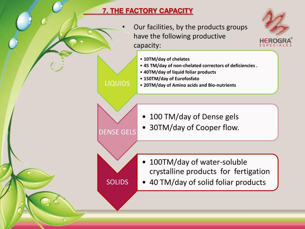 7. THE FACTORY CAPACITY