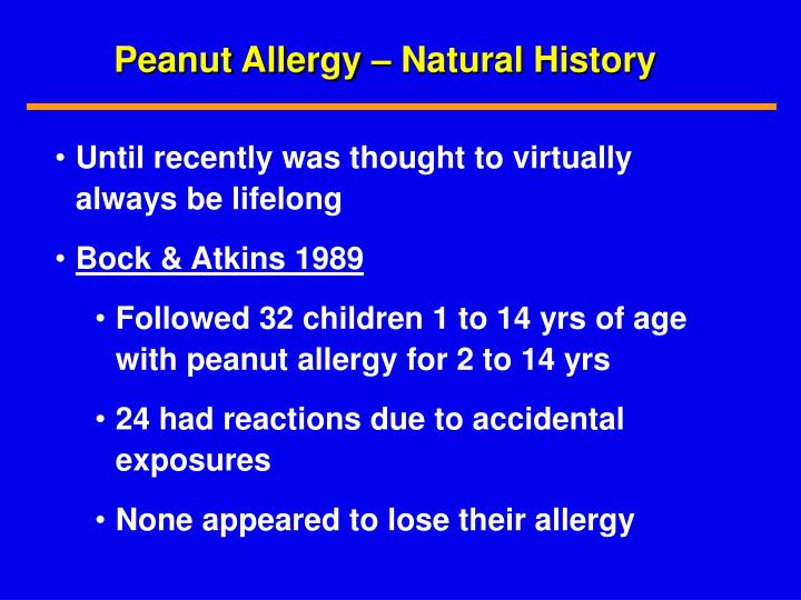 Peanut Allergy – Natural History