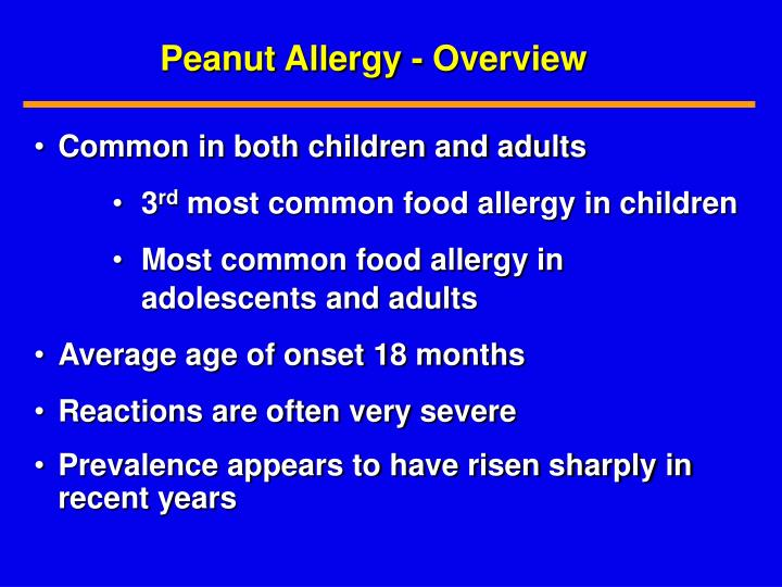 Peanut Allergy - Overview