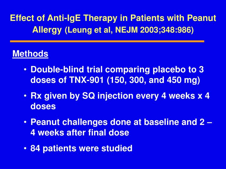 Effect of Anti-IgE Therapy in Patients with Peanut Allergy