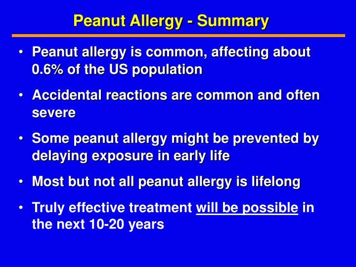 Peanut Allergy - Summary