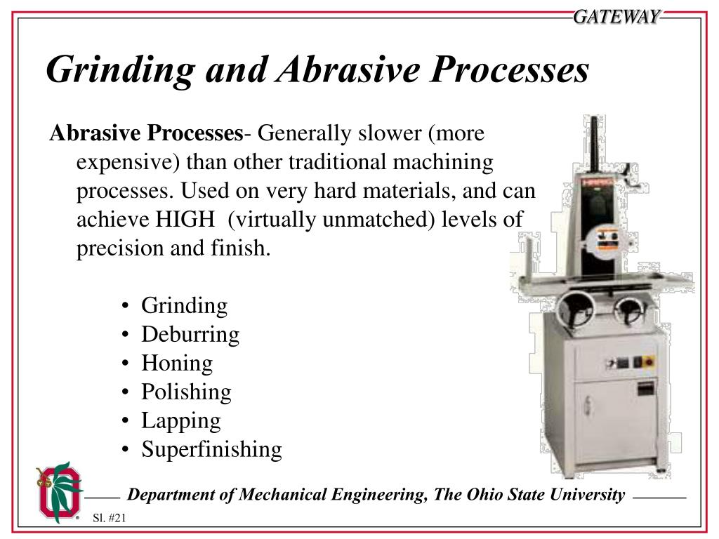 Grinding and Abrasive Processes
